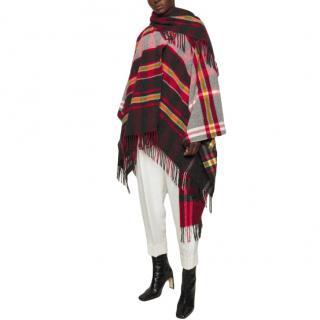 Vivienne Westwood Tartan Wool Blanket Cape Poncho