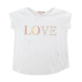 Bonpoint White Cotton Love Print T-shirt