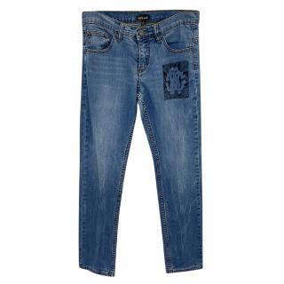 Roberto Cavalli Logo Patch Jeans