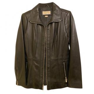 Michael Michael Kors Black Leather Jacket