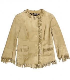 Dolce & Gabbana Goat Suede Fringed Jacket