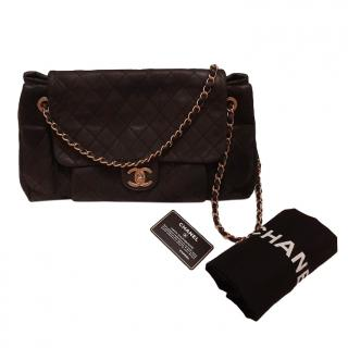 Chanel Dark Green Calfskin Shoulder Bag