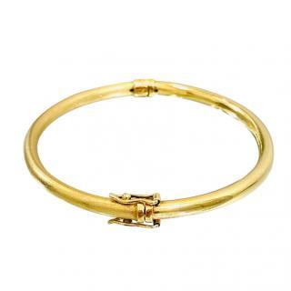 Bespoke Yellow Gold Hinged Bracelet