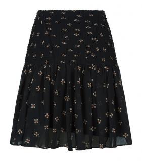 Maje Black Printed Jouet skirt