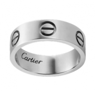 Cartier White Gold Classic Love Ring
