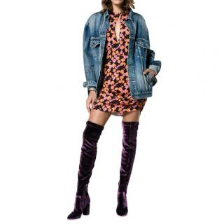 Aquazzura Velvet So Me 85 Thigh-High Boots
