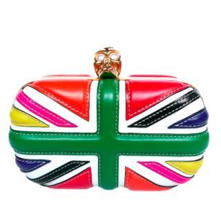 Alexander McQueen Multicoloured Britannia Skull Clutch