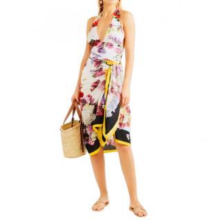 Dolce & Gabbana Rose floral print wrap scarf