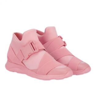 Christopher Kane Safety Buckle Pink Trainers