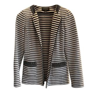 St. John Striped Knit Wool Jacket