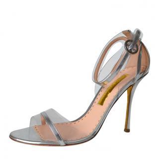 Rupert Sanderson Metallic PVC Trimmed Leather Sandals