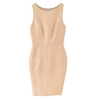 Dior Beige Sleeveless Fitted Dress