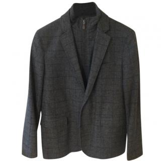 Oliver Sweeney Wool Tailored Jacket with Removable Zip Panel