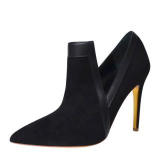Rupert Sanderson Rima Black Suede/Leather Booties