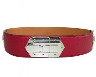 Hermes Swift Leather Pink Hinge Belt PHW