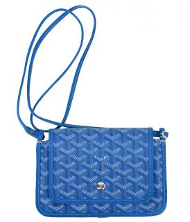 Gucci Blue Goyardine Plumet Shoulder Bag