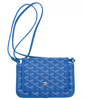 Gucci Blue Goyardine Plumet Shoulder Bag