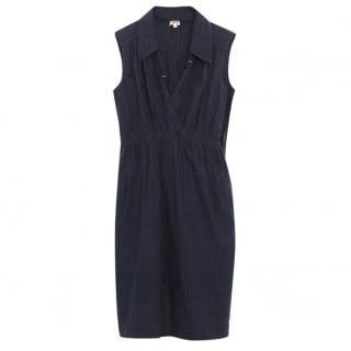 Kenzo Navy Sleeveless Shirt Dress