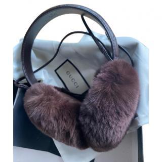 Gucci Rabbit Fur Ear Muffs