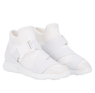 Christopher Kane Safety Buckle White Trainers