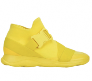 Christopher Kane Yellow Safety Buckle Trainers