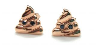 Alison Lou 14kt Rose Gold Emoticon Earrings
