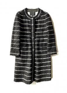 Marc Jacobs Black/White Wool Tweed Coat