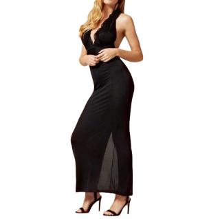 Agent Provocateur Bettina Black Silk Nightdress