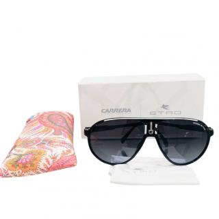 Etro Black Carerra Pilot Sunglasses