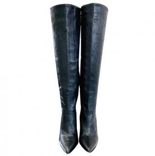 Gianmarco Lorenzi Black Python OTK Boots