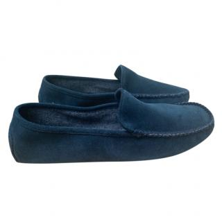 William & Son x Masserano cashmere lined suede slippers