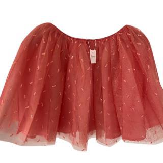 Bonpoint pink Embellished Tulle Skirt