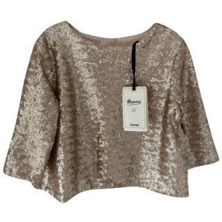 Bonpoint Couture Metallic Embellished Top