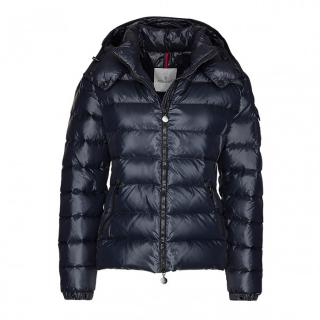 Moncler Bady Hooded Down Jacket in Dark Blue
