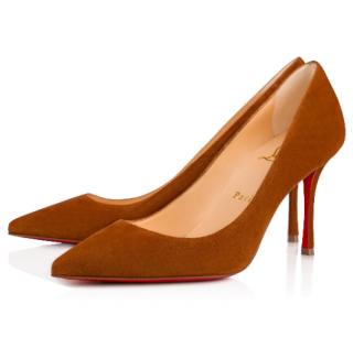 Christian Louboutin Decoltish Veau Velours In Cannelle