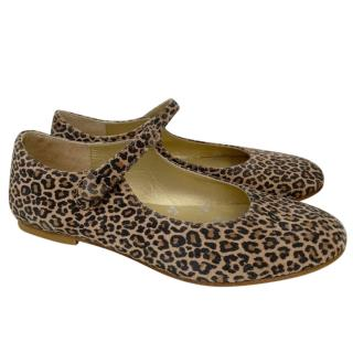 Bonpoint Kids Leopard Print Mary-Jane Ballerinas