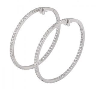 Boodles Diamond Hoop Earrings