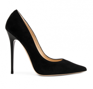 Jimmy Choo Black Anouk 120 Suede Pumps
