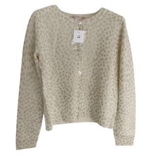 Bonpoint Cashmere Metallic Knit Cardigan
