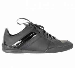 Dior Black Men's Leather Low-Top Sneakers