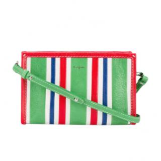 Balenciaga Striped Bazar Cross Body Bag