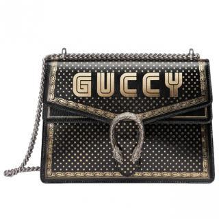 Gucci Black & Gold GUCCY Dionysus Shoulder Bag