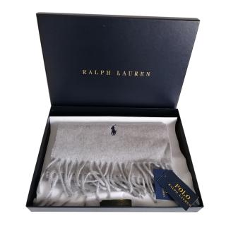 Polo Ralph Lauren Grey Recycled Cashmere Scarf