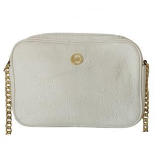 Michael Michael Kors White Leather Camera Bag