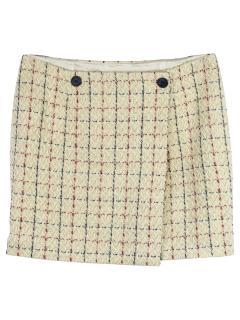 Bonpoint Tweed Check Kids Skirt