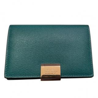 Smythson Emerald Green Leather Wallet