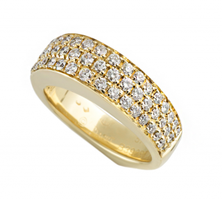 Piaget Yellow Gold Diamond Set Band Ring
