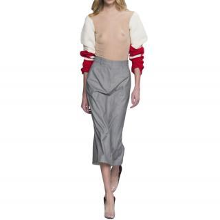Calvin Klein 205W39NYC Runway Grey Midi Skirt