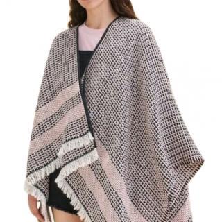 Maje Etno Maille Wool Alpaca Blend Poncho