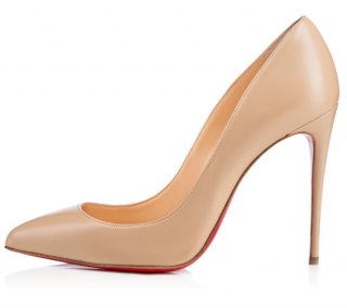 Christian Louboutin Pigalle Follies 100 Nude Nappa Pumps